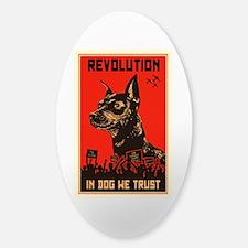 Dog Revolution Sticker (Oval)