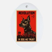 Dog Revolution Ornament (Oval)