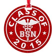 Class Of 2015 Bsn Round Ornament