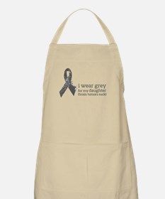 I wear Grey for my Daughter Apron