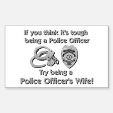 Tough Police Wife Rectangle Decal