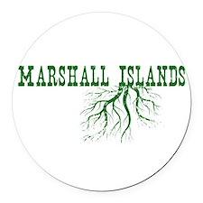 Marshall Islands Round Car Magnet