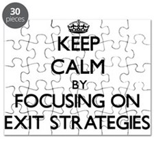 Keep Calm by focusing on EXIT STRATEGIES Puzzle