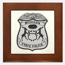 Michigan State Police Framed Tile