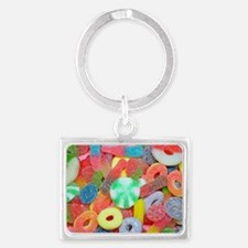 Colorful assorted chewy candy Keychains