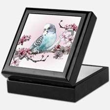 Parakeet And Cherry Blossoms - Keepsake Box
