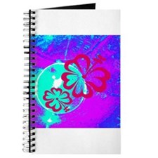 Pink Purple Blue Tropical Hibiscus Flowers Journal