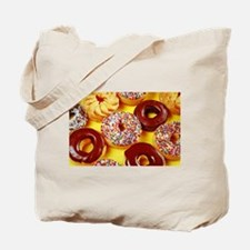 Assorted delicious donuts Tote Bag