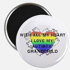 """""""... my autistic grandchild"""" Magnet"""
