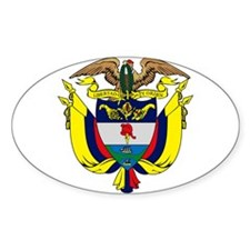Colombia Coat of Arms Oval Decal