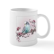Parakeet And Cherry Blossoms - Mug Mugs