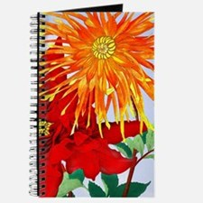Dahlias! Japanese Woodcut Journal
