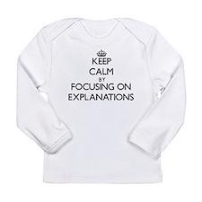 Keep Calm by focusing on EXPLA Long Sleeve T-Shirt