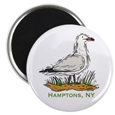"Hamptons NY Seagull 2.25"" Magnet (100 pack)"