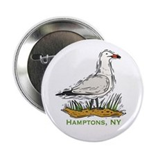 "Hamptons NY Seagull 2.25"" Button (10 pack)"