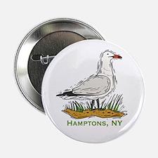 "Hamptons NY Seagull 2.25"" Button"