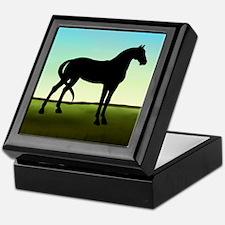 Grassy Field Horse Keepsake Box