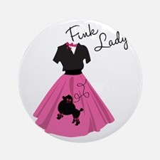 Pink Lady Ornament (Round)