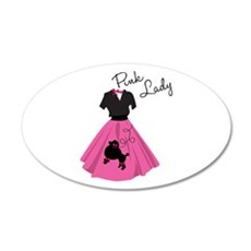 Pink Lady Wall Decal
