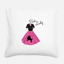 Pink Lady Square Canvas Pillow