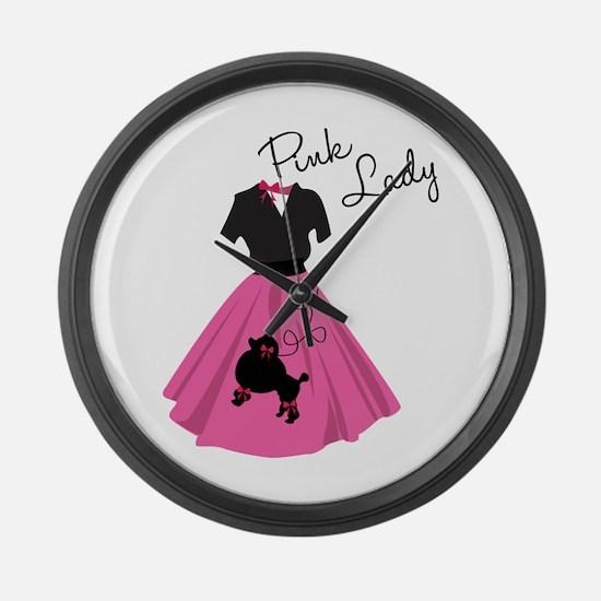 Pink Lady Large Wall Clock