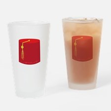 Red Tarboosh Drinking Glass