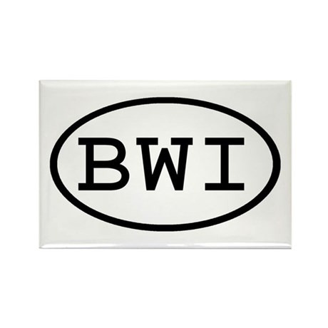 BWI Oval Rectangle Magnet (100 pack)