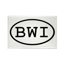 BWI Oval Rectangle Magnet