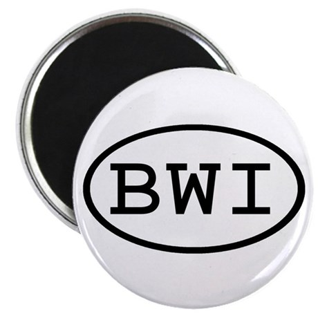 """BWI Oval 2.25"""" Magnet (100 pack)"""