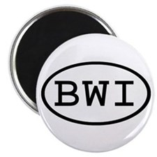 BWI Oval Magnet