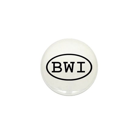 BWI Oval Mini Button (10 pack)