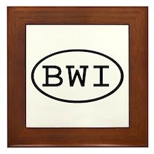 BWI Oval Framed Tile