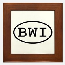 BWI Oval Framed Tile