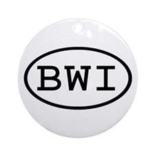 BWI Oval Ornament (Round)