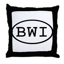 BWI Oval Throw Pillow