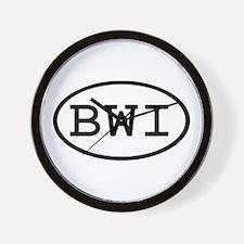 BWI Oval Wall Clock