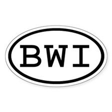 BWI Oval Oval Decal