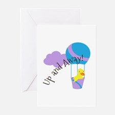 Up and Away Greeting Cards