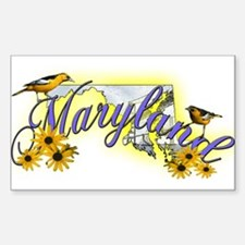 Maryland Rectangle Decal