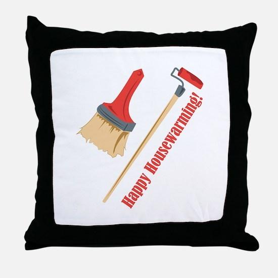 Happy Housewarming! Throw Pillow