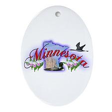 Minnesota Oval Ornament