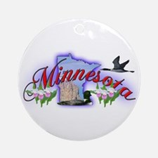 Minnesota Ornament (Round)