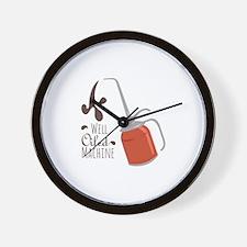 Well Oiled Machine Wall Clock