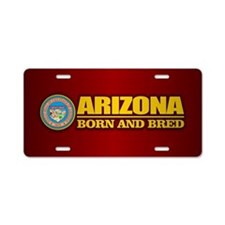 Arizona Born and Bred Aluminum License Plate