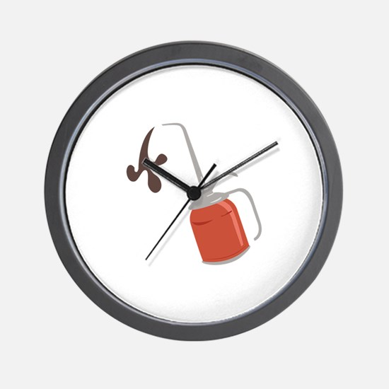 Oil Can Wall Clock