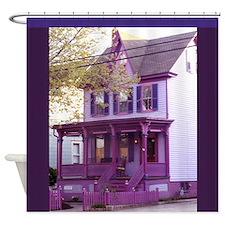 Sugar Plum Purple Victorian House 1 Shower Curtain