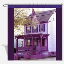 Sugar Plum Purple Victorian House 1 Shower Curtain