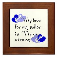 Navy Strong Framed Tile