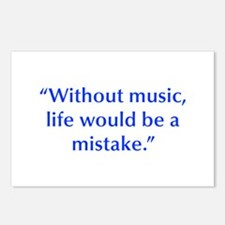 Without music life would be a mistake Postcards (P