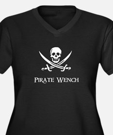 Pirate Wench Women's Plus Size V-Neck Dark T-Shirt